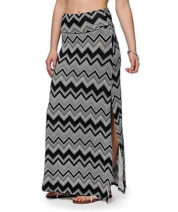 Empyre Yasmin Chevron Maxi Skirt