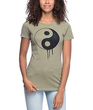 Empyre Yin Yang Sprayed Olive T-Shirt