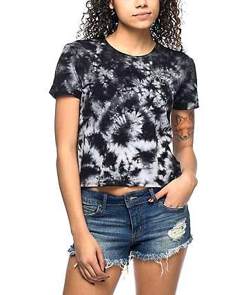 Empyre Yohanna Whatever camiseta negra con efecto tie dye