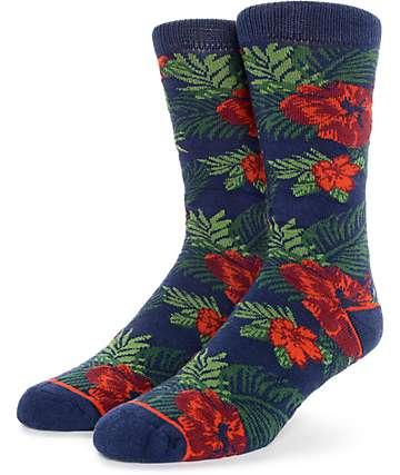 Empyre Yonder Tropical Floral Crew Socks