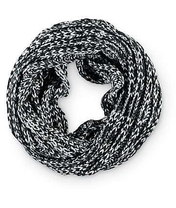 Empyre bufanda infinita blanca & negra de punto
