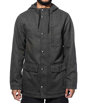 Empyre chaqueta parka de lana en capas