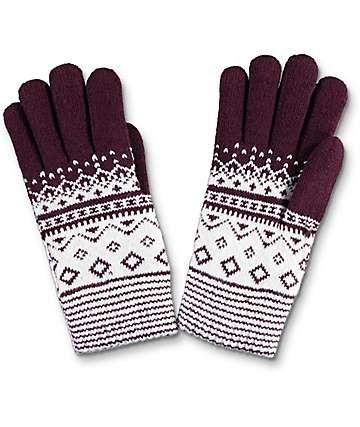 Empyre guantes de chenille en color borgoño