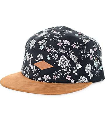 Emypre Floralicious Black 5 Panel Hat