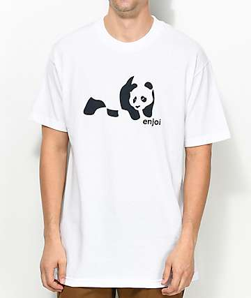Enjoi Basic Panda White T-Shirt