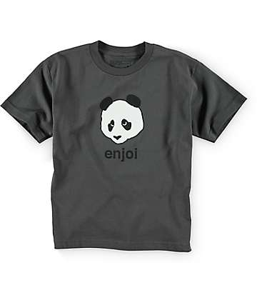 Enjoi Boys Big Logo Charcoal T-Shirt