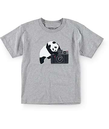 Enjoi Boys Camera Charcoal T-Shirt