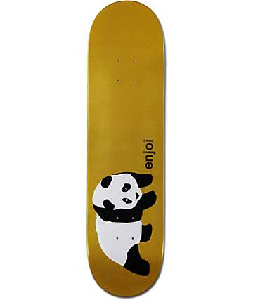 "Enjoi Gold Panda 8.1"" Skateboard Deck"