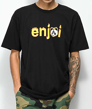 Enjoi Metal Panda Black T-Shirt