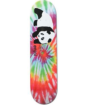 "Enjoi OG Panda Tie Dye 8.0""  Skateboard Deck"