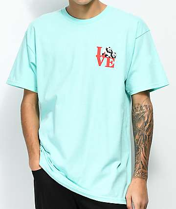 Enjoi Panda Love Celadon T-Shirt