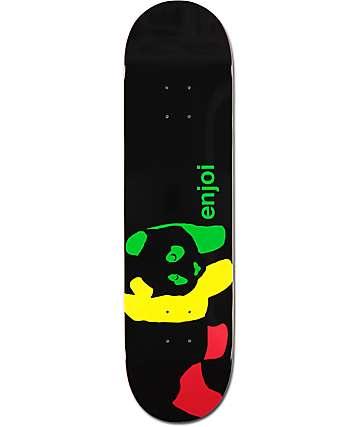 "Enjoi Rasta Panda 8.1"" Skateboard Deck"