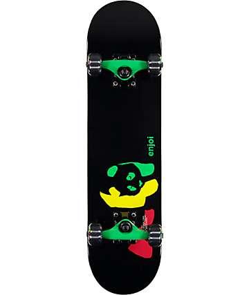 """Enjoi Rasta Panda Mini 7.0"""" Mini Skateboard Complete"""