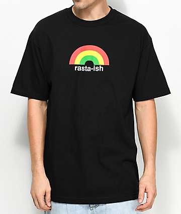 Enjoi Rasta-ish Black T-Shirt