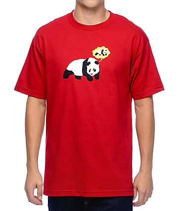 Enjoi Though Bubble Panda Red T-Shirt