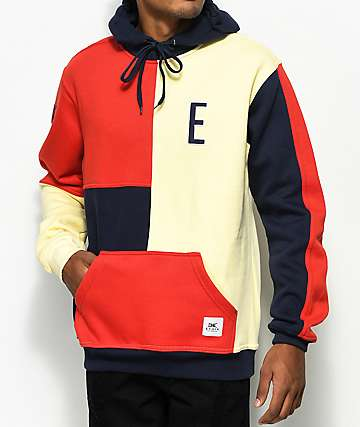 Ethik E Block Red, White & Blue Hoodie