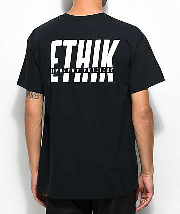 Ethik In The Cut Black T-Shirt