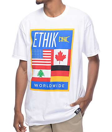 Ethik Worldwide White T-Shirt
