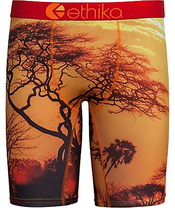 Ethika Acacia Orange & Black Boxer Briefs