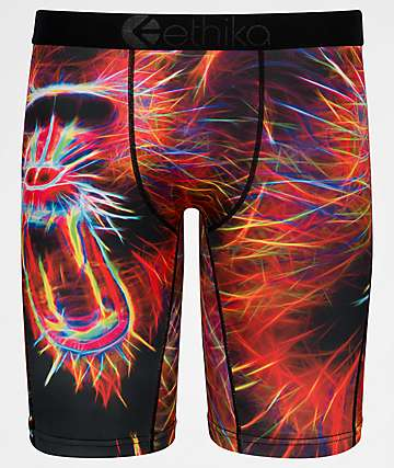 Ethika Boys Monkey See Red Boxer Briefs