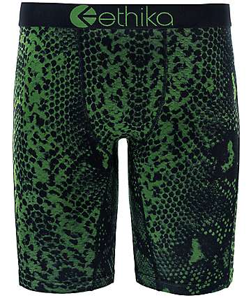 Ethika Forest Snake Black & Green Boxer Briefs