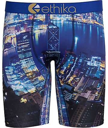 Ethika Hong Kong Blue Boxer Briefs