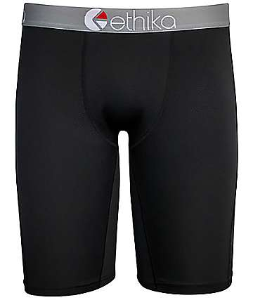 Ethika MicroMesh Performance Black Boxer Briefs