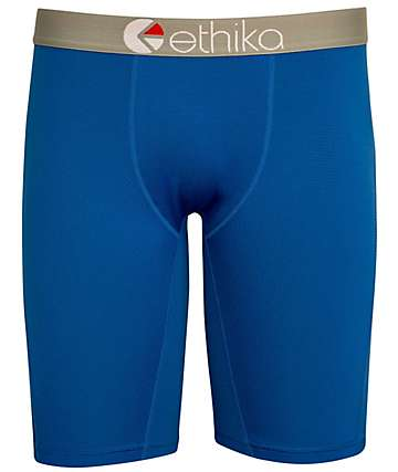 Ethika MicroMesh Performance Neon Blue Boxer Briefs