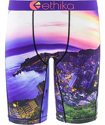 Ethika Monte Carlo Purple Multi Boxer Briefs