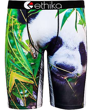 Ethika Panda Black & Green Boxer Briefs