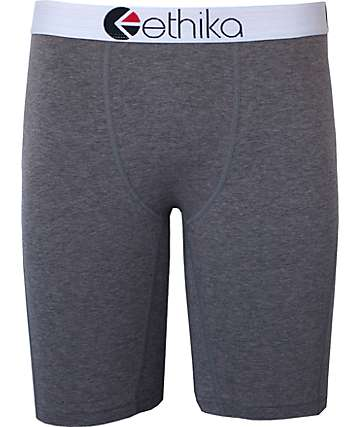 Ethika The Staple Charcoal Heather Grey Boxer Briefs
