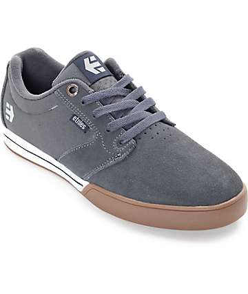 Etnies Jameson E-Lite Grey, White & Gum Skate Shoes
