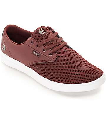 Etnies Jameson SC Burgundy & White Shoes