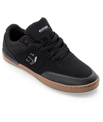 Etnies Marana XT Black & Gum Nubuck Skate Shoes