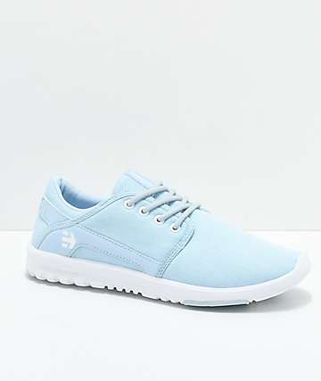 Etnies Scout Aqua Marine & White Shoes