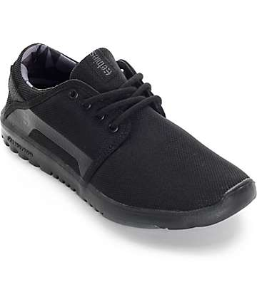 Etnies Scout Black & Black Shoes