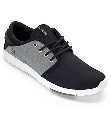 Etnies Scout Black & Charcoal Heather Shoes
