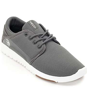 Etnies Scout Grey, White & Gum Skate Shoes