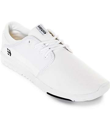 Etnies Scout White & Black Mesh Shoes