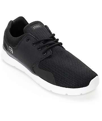 Etnies Scout XT Black, White & Grey Mesh Shoes