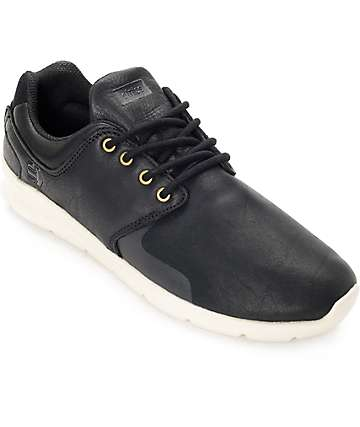 Etnies Scout XT Black & Off White Full Grain Leather Shoes