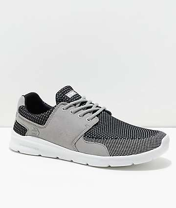 Etnies Scout XT Grey, Black & White Knit Shoes