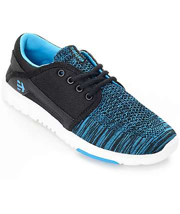Etnies Scout Yarn Bomb Black & Blue Women's Shoes