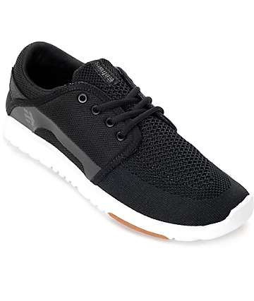 Etnies Scout Yarnbomb Black, White & Gum Shoes