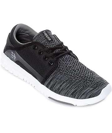 Etnies Scout Yarnbomb zapatos en negro, gris y blanco