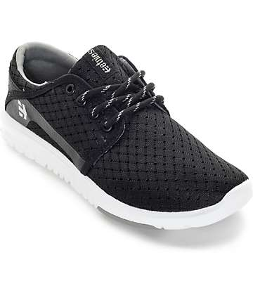 Etnies Scout zapatos negro y blanco (mujer)