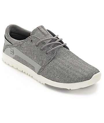 Etnies Scout zapatos patrón espiga en gris y blanco