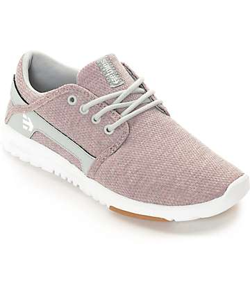 Etnies Women's Scout Coco Ho Pink, White & Grey Shoes
