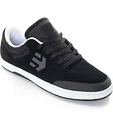 Etnies x Grizzly Marana Black & White Skate Shoes