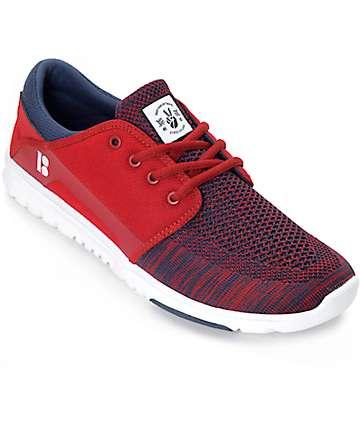Etnies x Plan B Scout Yarn Bomb zapatos rojo y azul